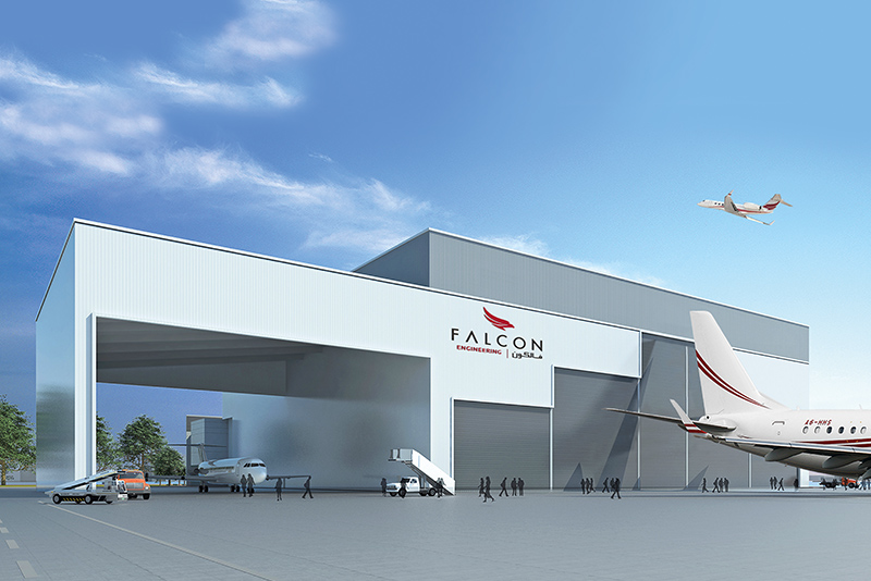 Falcon plans opening for new Dubai DWC Base Maintenance Hangar facility